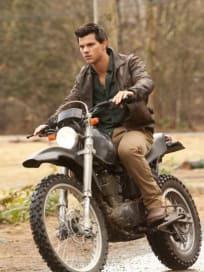 Yummy Jacob on his Motorcycle