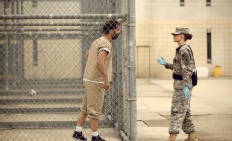 Kristen Stewart in Camp X-Ray