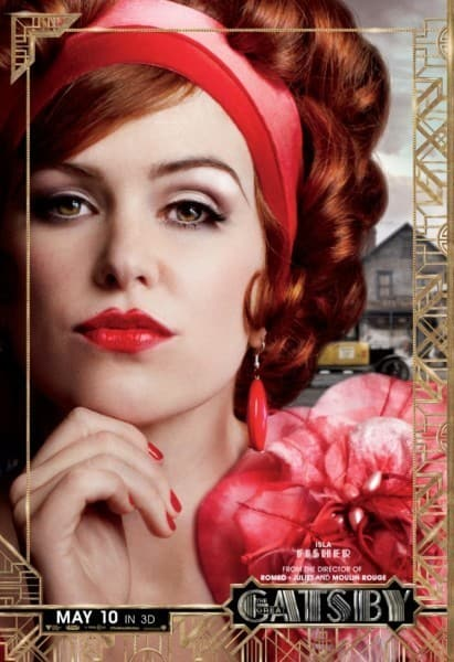 The Great Gatsby Isla Fisher Poster