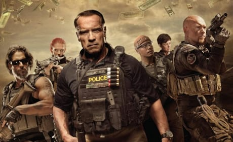 Sabotage Poster: Arnold Schwarzenegger & Company Ready for Battle