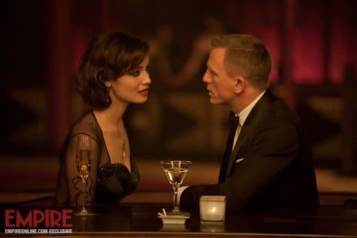 Berenice Marlohe and Daniel Craig Skyfall