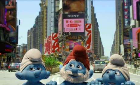 Smurfs in TImes Square!