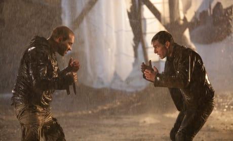 Jai Courtney and Tom Cruise Jack Reacher