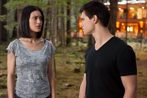 Taylor Lautner and Julia Jones in Breaking Dawn Part 1