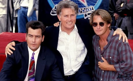 Martin Sheen Charlie Sheen Emilio Estevez Photo