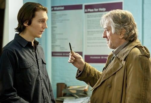 Paul Dano and Robert De Niro in Being Flynn