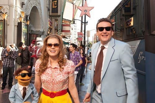 Jason Segel and Amy Adams in The Muppets