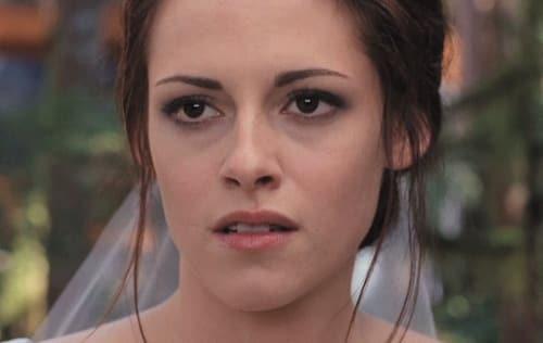 Kristen Stewart as Bella in Breaking Dawn