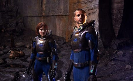 Prometheus Photo: Noomi Rapace and Logan Marshall-Green in Action