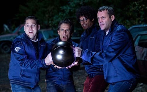 Vince Vaughn, Ben Stiller, Jonah Hill and Richard Ayoade in The Watch