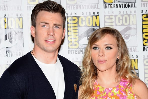 Chris Evans and Scarlett Johansson Photo