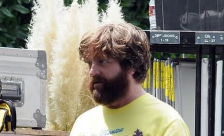 Zach Galifianakis The Hangover 3 Set Photo