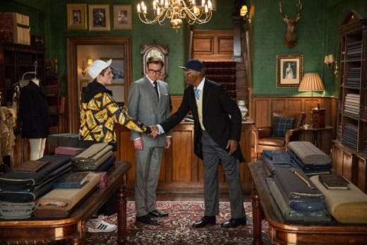 Kingsman: The Secret Service Colin Firth Samuel L. Jackson Taron Egerton
