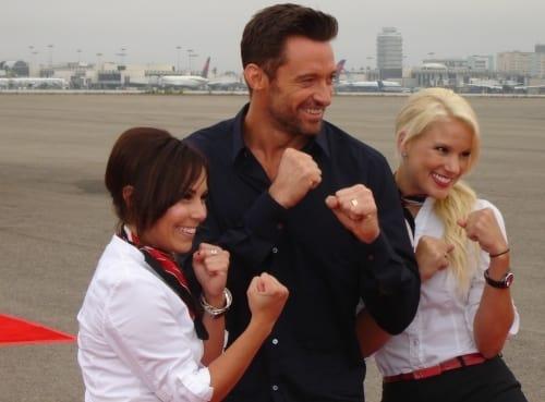 Hugh Jackman at LAX