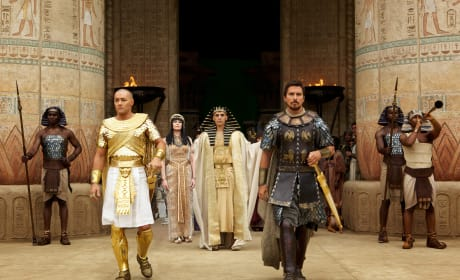 Exodus Gods and Kings Joel Edgerton Christian Bale Sigourney Weaver