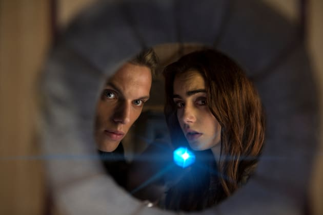 The Mortal Instruments City of Bones Jamie Campbell Bower Lily Collins