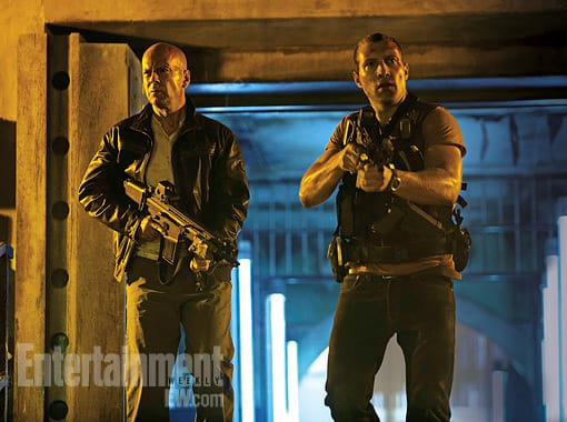 Bruce Willis and Jai Courtney A Good Day to Die Hard