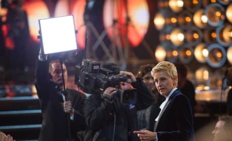 Ellen DeGeneres Oscar Behind-the-Scenes