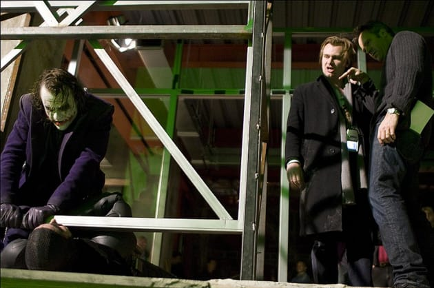 The Dark Knight Christopher Nolan Directs Heath Ledger