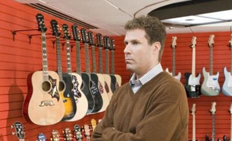 Crick checking out guitars
