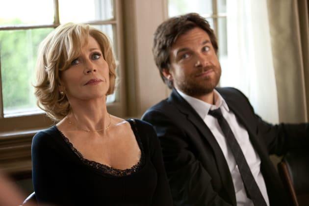 Jane Fonda and Jason Bateman Share a Moment