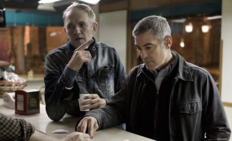 Clooney and Corbijn On Set