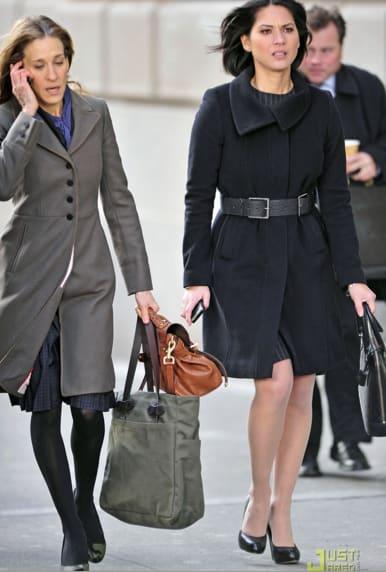 Sarah Jessica Parker and Olivia Munn on Wall Street