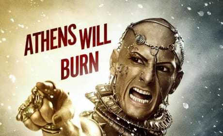 300 Rise of an Empire Rodrigo Santoro Poster: Athens Will Burn!