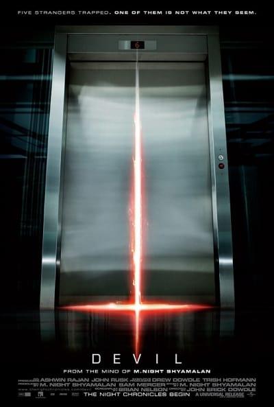 Devil Elevator Door Poster