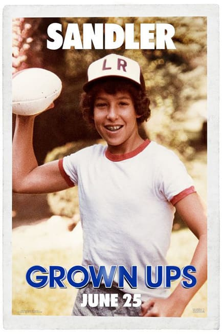 Grown Ups Adam Sandler Kid Poster