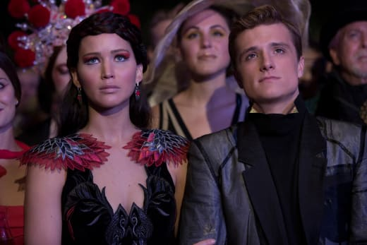 Josh Hutcherson Jennifer Lawrence Catching Fire