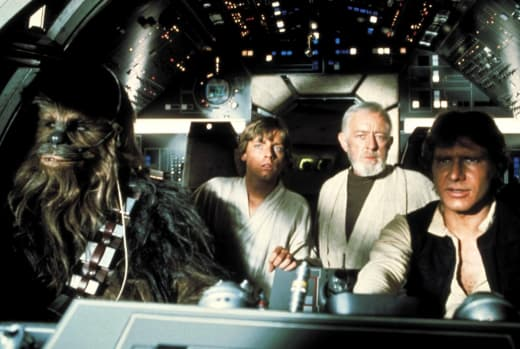 Star Wars Mark Hamill Carrie Fisher Harrison Ford Alec Guiness