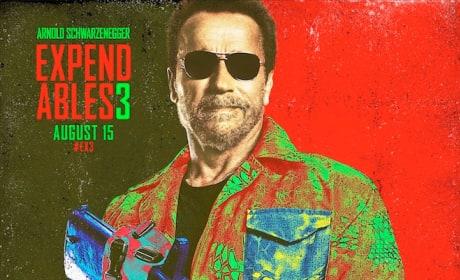 The Expendables 3 Arnold Schwarzenegger Comic Con Poster