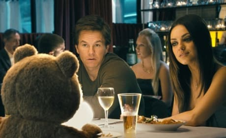 Mark Wahlberg and Mila Kunis in Ted