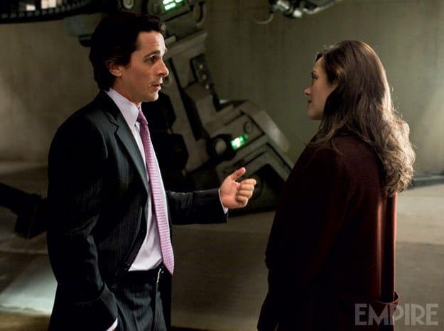 Dark Knight Rises Empire Picture: Bruce Wayne and Miranda Tate