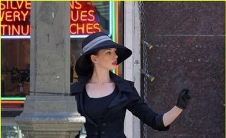 Dark Knight Rises Set Photos: Christian Bale and Anne Hathaway are Dapper