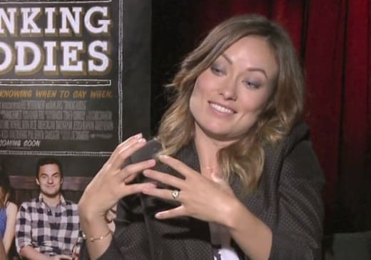 Olivia Wilde Drinking Buddies Photo