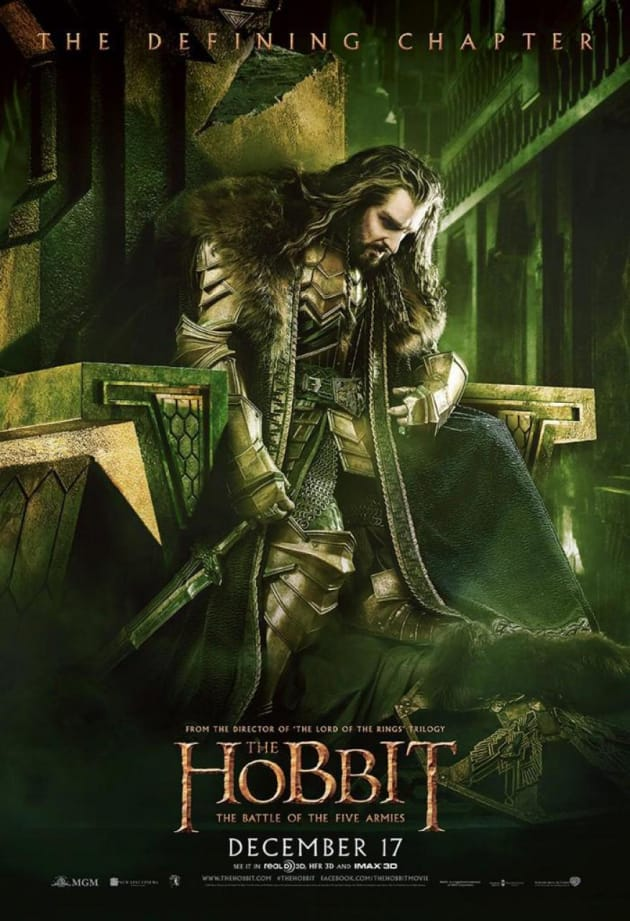 The Hobbit The Battle of the Five Armies Richard Armitage Poster