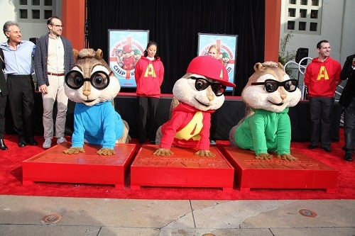 Alvin and the Chipmunks at Mann's Chinese Theatre