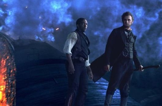 Anthony Mackie and Benjamin Walker in Abraham Lincoln Vampire Hunter