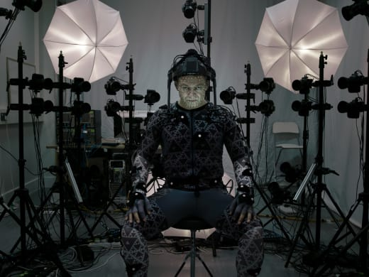Star Wars The Force Awakens Andy Serkis Set Photo