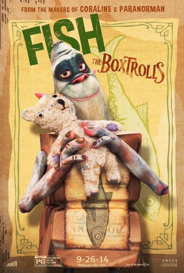 The Boxtrolls Fish Character Poster