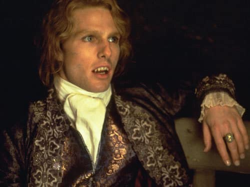 Tom Cruise is Lestat in Interview with a Vampire
