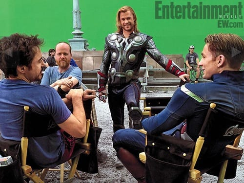 The Avengers Set Photo