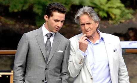 Shia and Michael in Wall Street 2