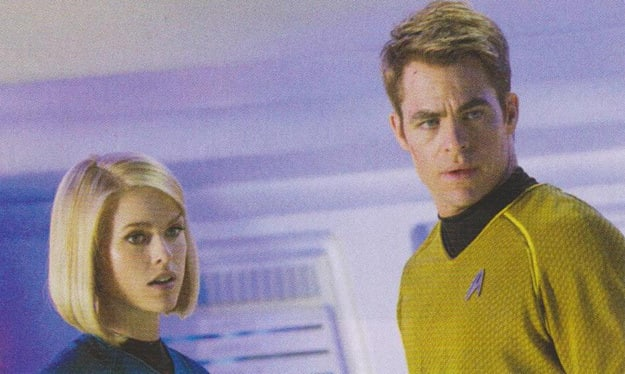 Alice Eve Chris Pine Star Trek Into Darkness