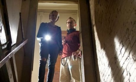 Sara Paxton and Pat Healy in The Innkeepers