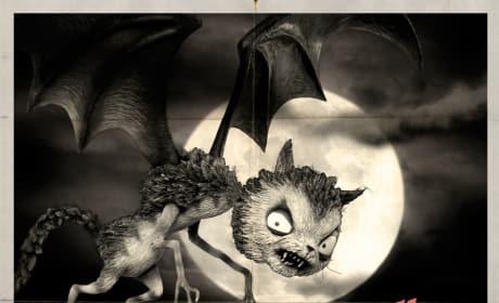 Frankenweenie Vampire Cat Monster Poster