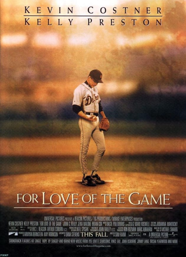 For the Love of the Game Poster