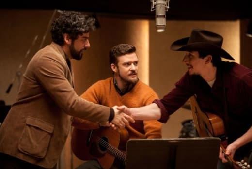 Justin Timberlake Oscar Isaac Inside Llewyn Davis